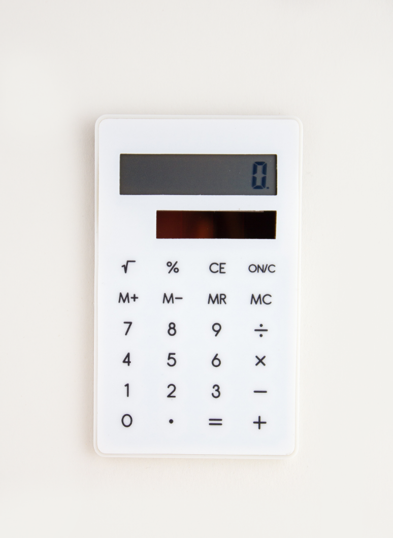 Clip Calculator White