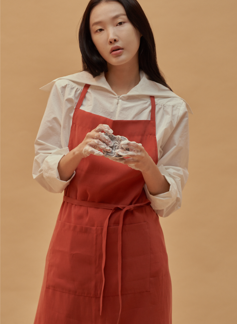 al_Apron Basic Red