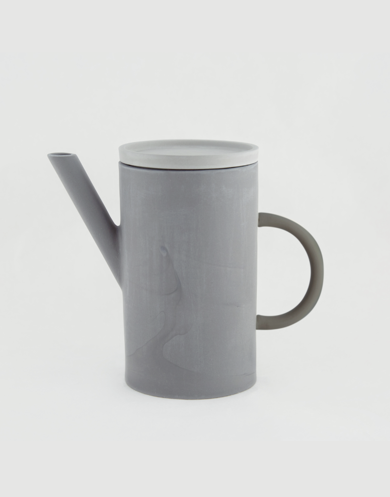 al_Ceramic Artline Pot [Grey, Ivory]