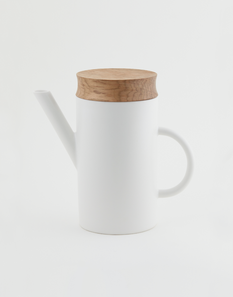 al_Ceramic Artline Pot  + Wood Lid